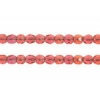 Fire polished 2mm Round Beads Transparent Natural Rose